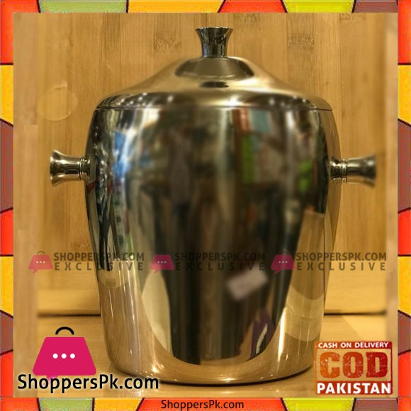 Insulated Ice Bucket with Lid Stainless Steel