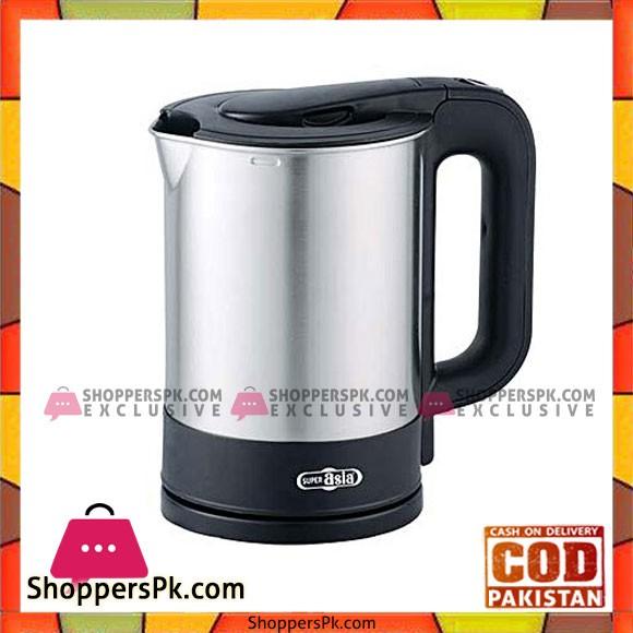 Super Asia Ek-1516 Electric Kettle Black - Karachi Only