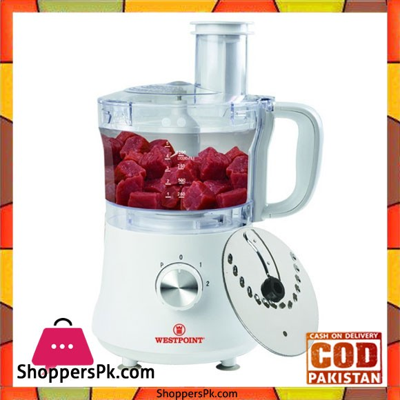 Westpoint Chopper With Vegetable Cutter With Powerful Motor White color WF-497