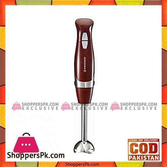 Westpoint Wf 9714 Hand Blender Professional Maroon 600 Watts - Karachi Only