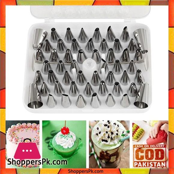 52pcs Icing Piping Pastry Fondant Cake Decorating Sugarcraft Nozzle Tips Set