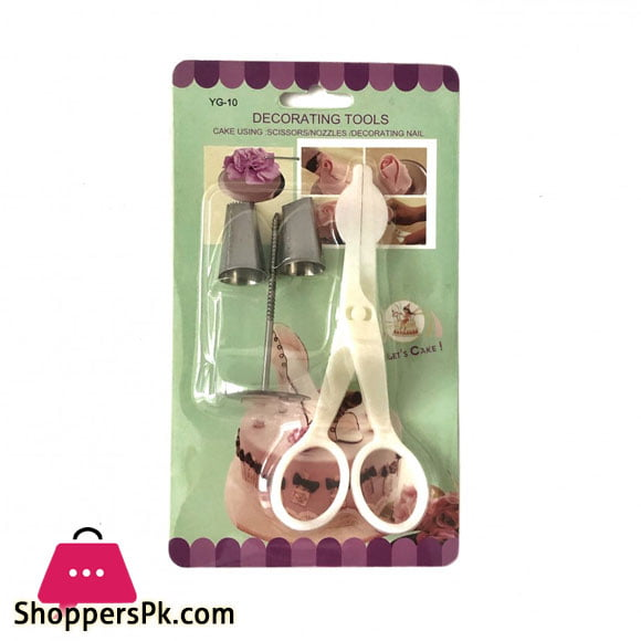 6-Pcs Icing Piping Nozzle Scissors Flower Stand Nail