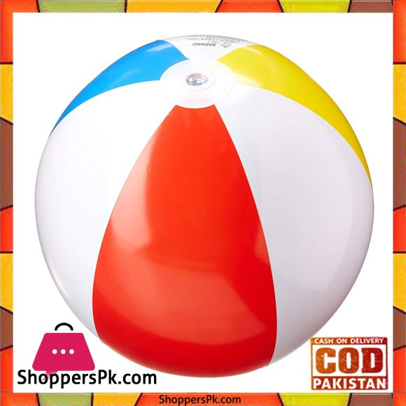 """Intex 59020 3 Pack 20"""" Glossy Panel Colorful Beach Ball Inflatable Pool"""