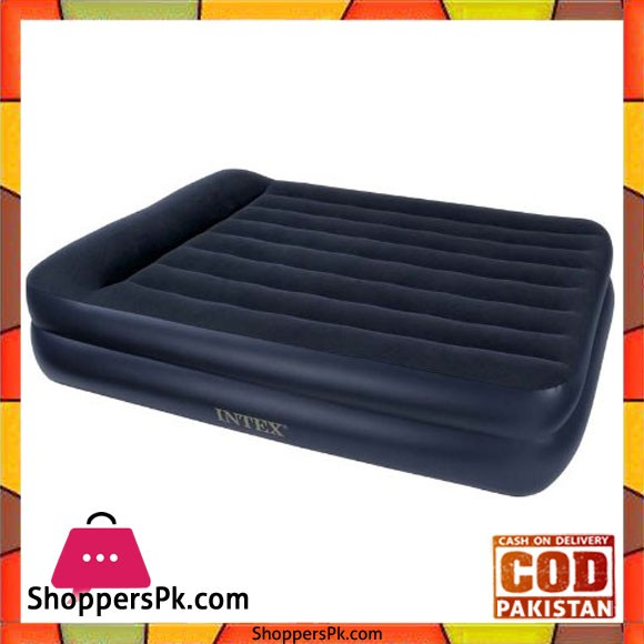 """Intex Pillow Rest Raised Air Bed Queen Size Built In Electric Pump -60 X 80 X 18.5"""""""