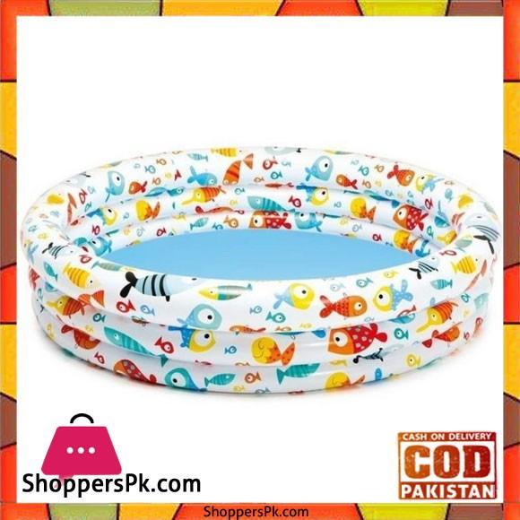"Intex SwimmingPool With Fish Ponds -132X28""CM - 59431"