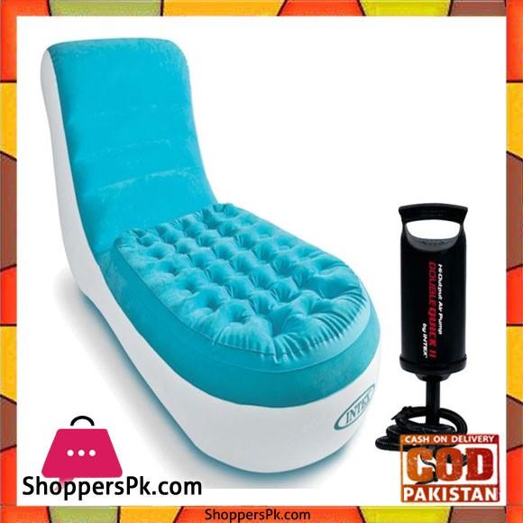 Intex Splash Lounge Blue With Air Pump - 68880