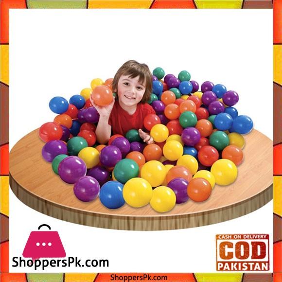 Intex 318 Fun Ballz 100 Multi Colored Plastic Balls for Ages 2