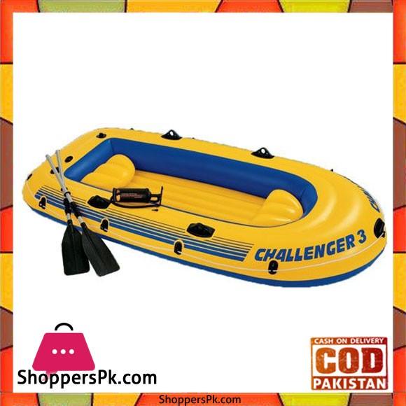"Intex Challenger 3 Boat Set -116X54X17"" - 68370"
