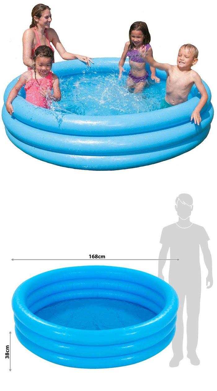 "Intex Children Pool Paddling Pool New OVP 3-Ring -168 x 40"" cm- 58446"