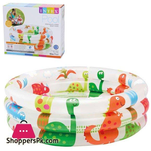 "Intex Dinosaur Ring Baby Pool ( 24"" D x 8.5"" H ) 57106"