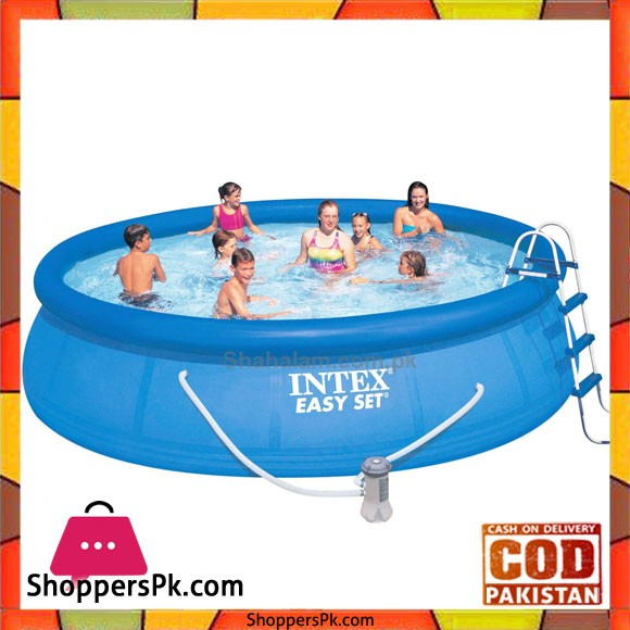 """Intex Easy Set Pool With Safety ladder, Ground Cloth, Pool Cover, -15' X 42"""""""