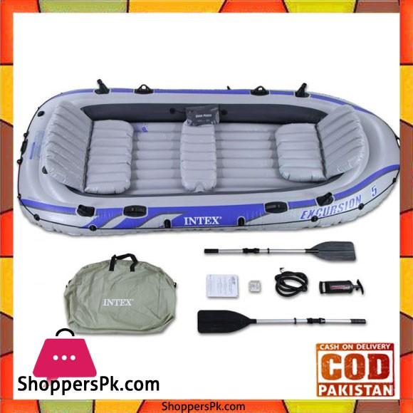Intex Excursion 5 Inflatable Raft Set Gray - 68325