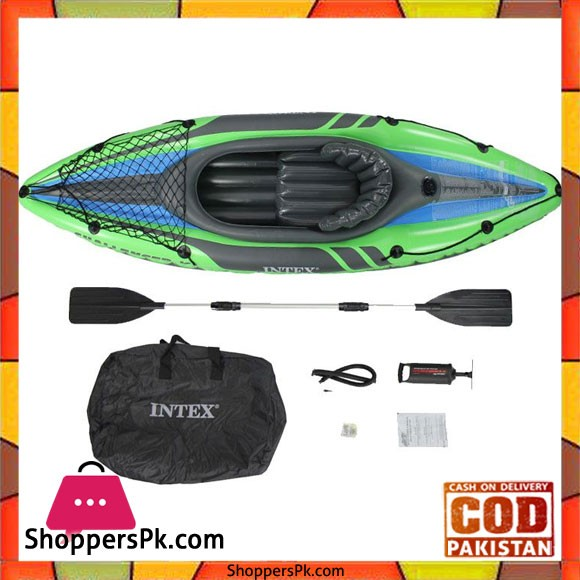 Intex Inflatable Challenger K1 Boat Set 68305