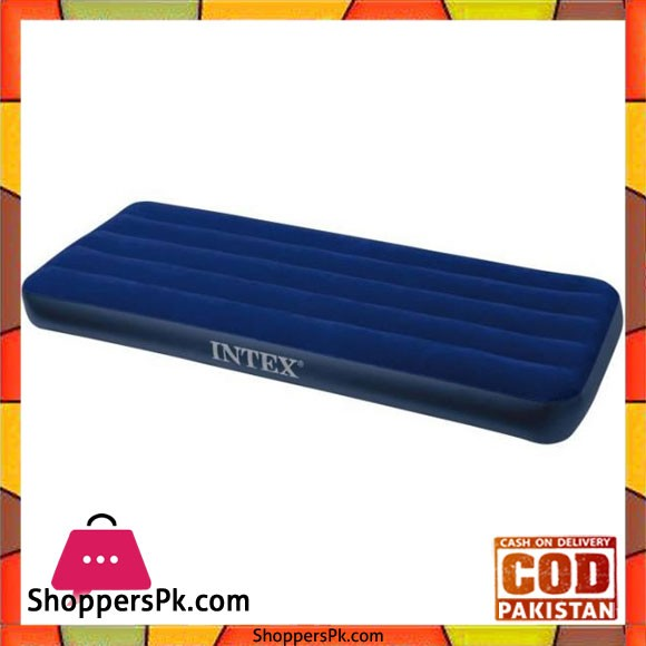 Intex Inflatable Classic Downy Air Mattress - BlueTwin Size - 68950