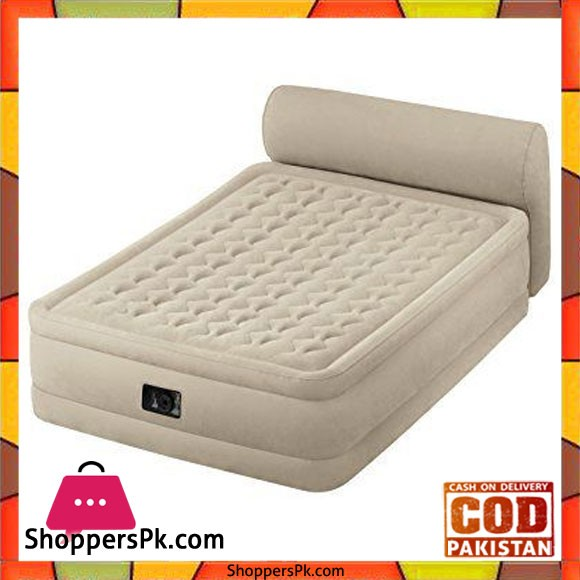 Intex Inflatable Double Airbed With Integrated Pump and Headboard - 64460