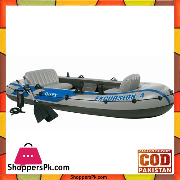 Intex Inflatable Excursion 4 Boat Set - 68324