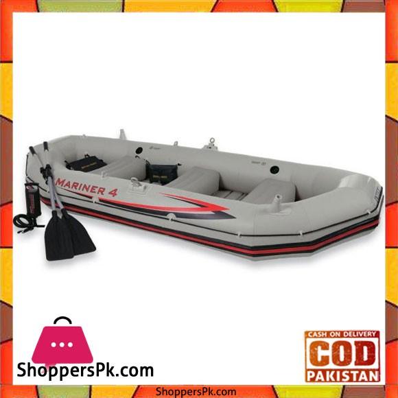 Intex Inflatable Mariner 4 Pro Boat Set - 68376