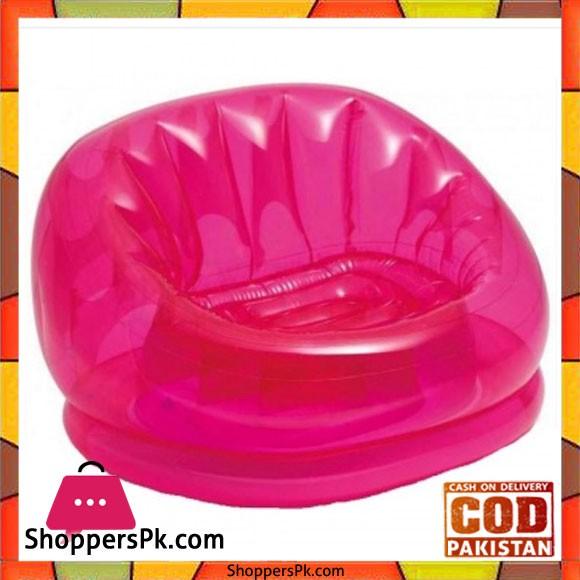 "Intex Inflatable Transparent Chair -104 x 117 x 69"" cm - 68594"