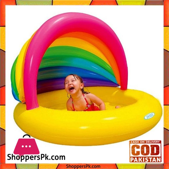 Intex Pool Rainbow Shade Inflatable Soft Bottom Colorful Sunshade - 57420