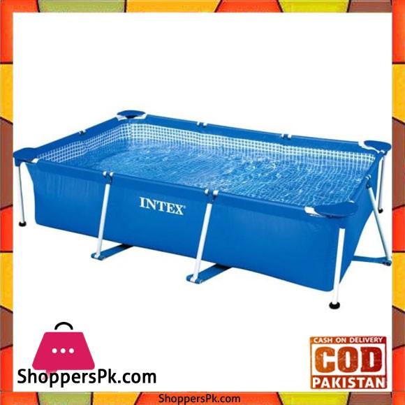 "Intex Rectangular Metal Frame Pool -260 x 160 x 65"" - 28271"
