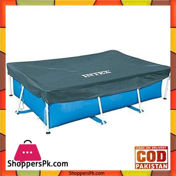 "Intex Rectangular Pool Cover -118 x 79"" - 28038, Navy Blue"