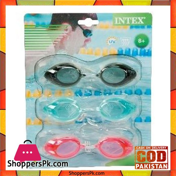 Intex Sport Goggles Tri Pack Assorted Color Model - 55674