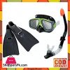 Intex Surf Rider Kids Swimming Diving Mask Snorkel Fin Set - 55959