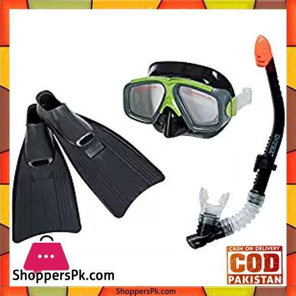 Intex Surf Rider Kids Swimming Diving Mask Snorkel Fin Set - 55959