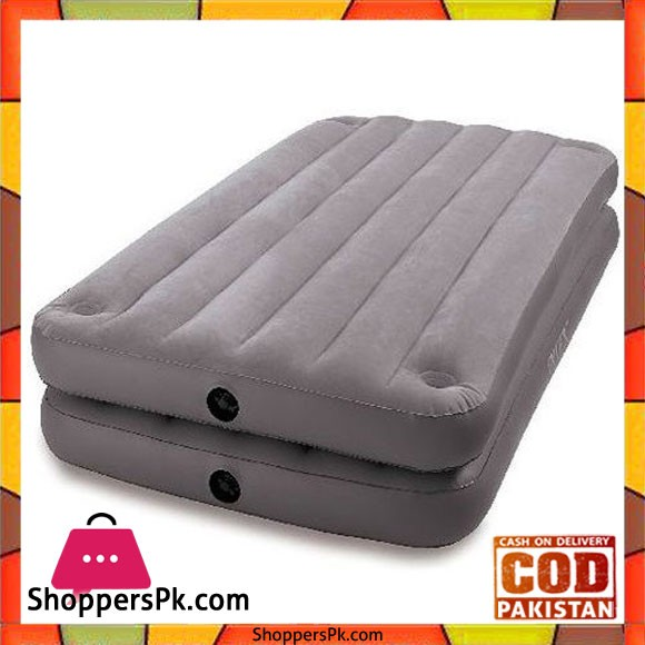 Intex Twin Size Raised 2 In 1 Airbed - 67743