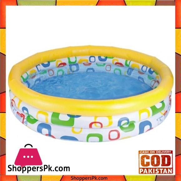 "Intex Wild Geometry Pool Multicolor -66 x 15""Inch - 58449"