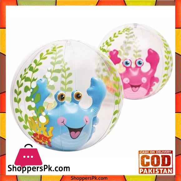 "Intex Beach Ball Different Colors -61Cm"" - 58031"