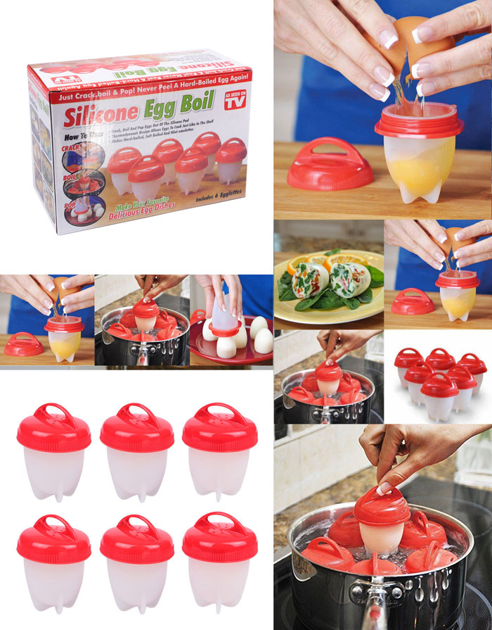 Silicone Egg Boil Set of 6