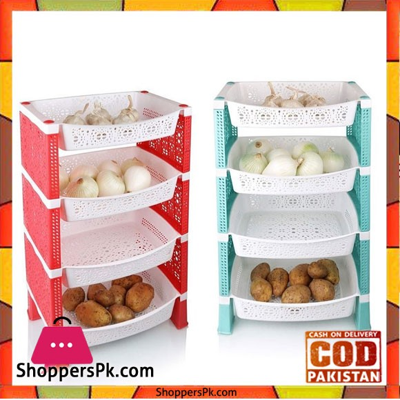 4 Layers Onion Potato Container Holder
