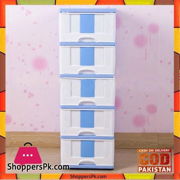 5 Tiers Plastic Storage Cabinet