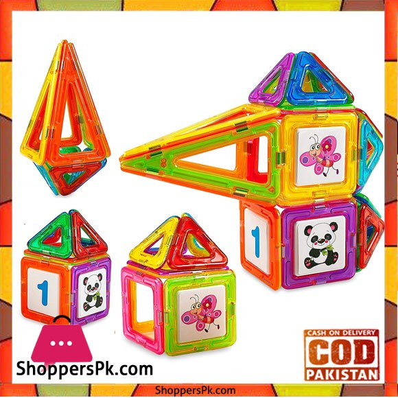 Clear Colors Magnetic Tiles Deluxe Building Set - 20+1 Pcs