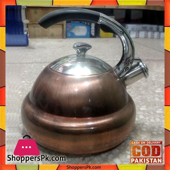 Copper Stainless Steel Whistle Kettle 3 Liter