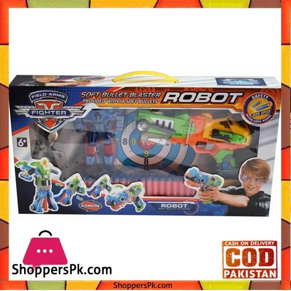 Kiditos Robot Soft Bullet Blaster Gun Robot 14 Bullets Multicolor
