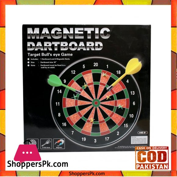 Magnetic Dart Board Target Bulls Eye Game