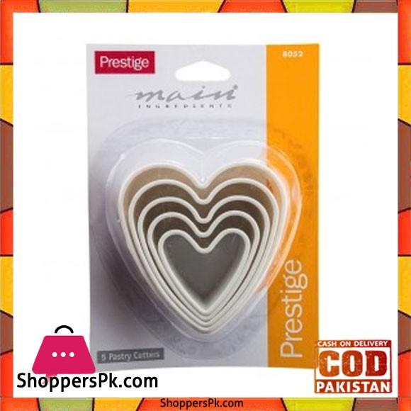 Prestige Heart Shape Pastry 5Pcs -8052
