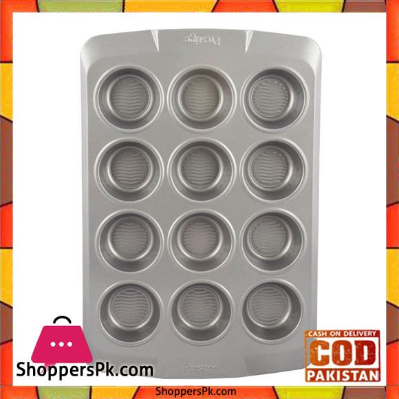 Prestige Muffin Tin with Bottom Design 12 Cup PR57983