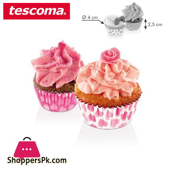 Tescoma Baking Cup Hearts ø 4 cm – 100 pcs Italy Made – #630599