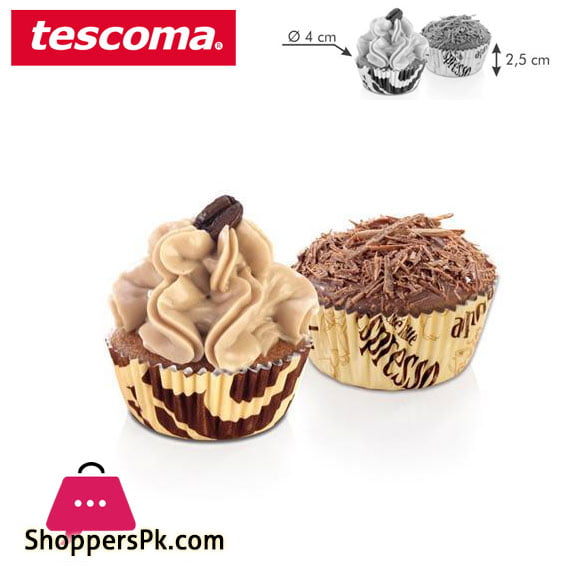 Tescoma Delicia Baking Cupcake Liner Cups Coffee Decoration ø 4 cm - 100 pcs Italy Made - #630594