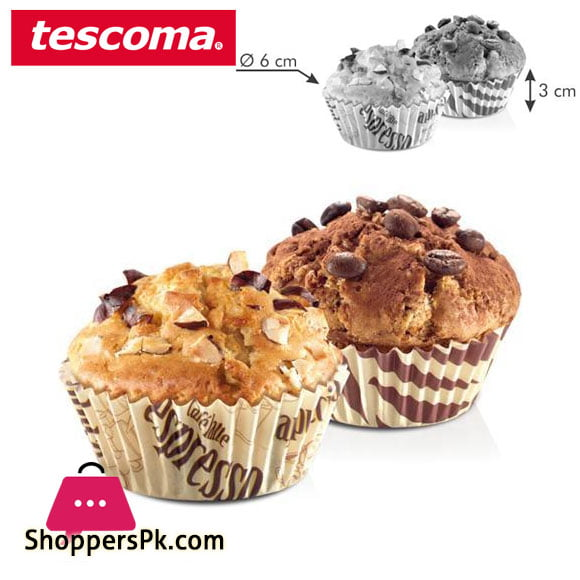 Tescoma Delicia Baking Cupcake Liner Cups Coffee Decoration ø 6 cm – 60 pcs Italy Made – #630604