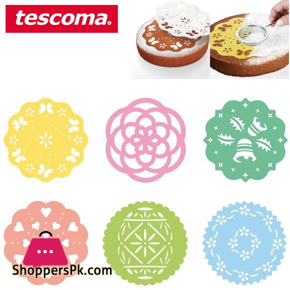 Tescoma Delicia Decorating Templates Cake Stencil Set 6 pieces Italy Made #630676