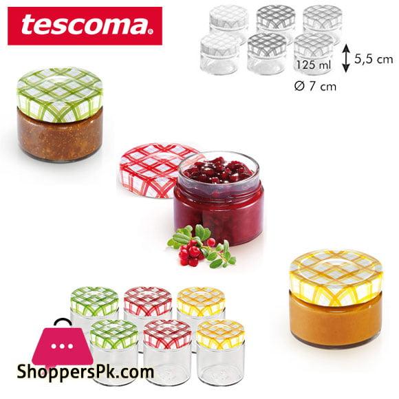 Tescoma Della Casa Preserving Jars 125-ML Set 6 pieces Italy Made - #895110