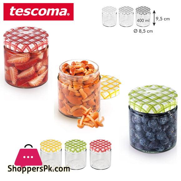 Tescoma Della Casa Preserving Jars 400-ML Set 3 pieces Italy Made – #895114