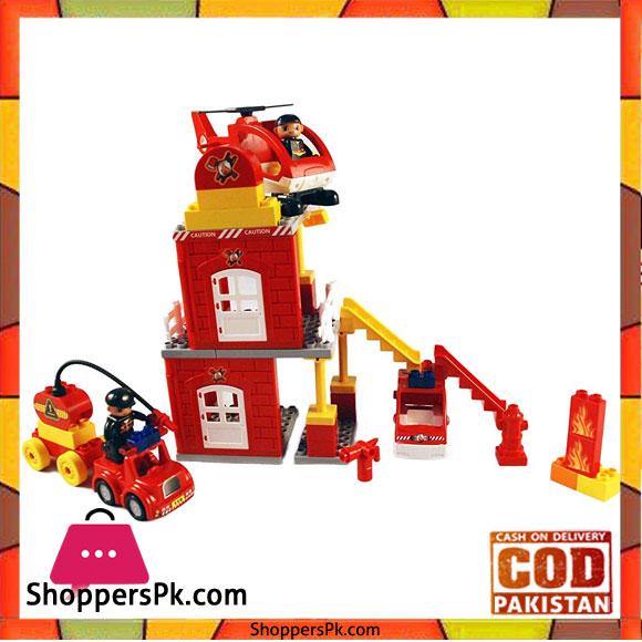 Toyhouse Fire Station Blocks Multi Color