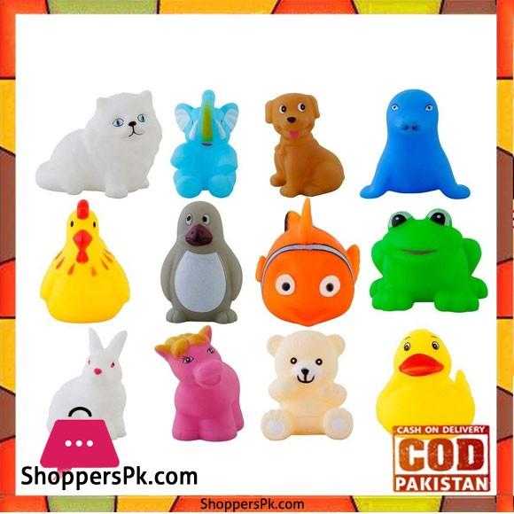 ChuChu Bath Toys Multicolour Set of 12 Animals