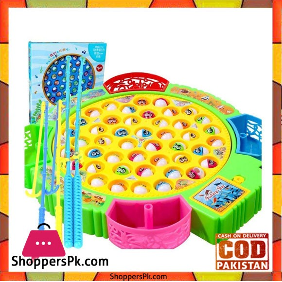 Fishing Game Fishing Educational Games with Music Autorotation for Toddlers Children 45 Fishes