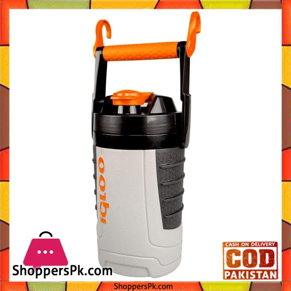 IGloo 1 quart Sport Jug Ash Gray Tough Orange #31095